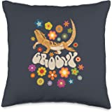 Groovy Bearded Dragon Lizard Reptile Lover Item Groovy Lizard Reptile Lover Bearded Dragon Throw Pillow, 16x16, Multicolor