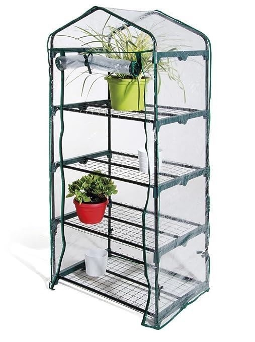 12 opinioni per Serra 4 ripiani telo in PVC struttura acciaio 69x49x157cm piante balcone 647/2
