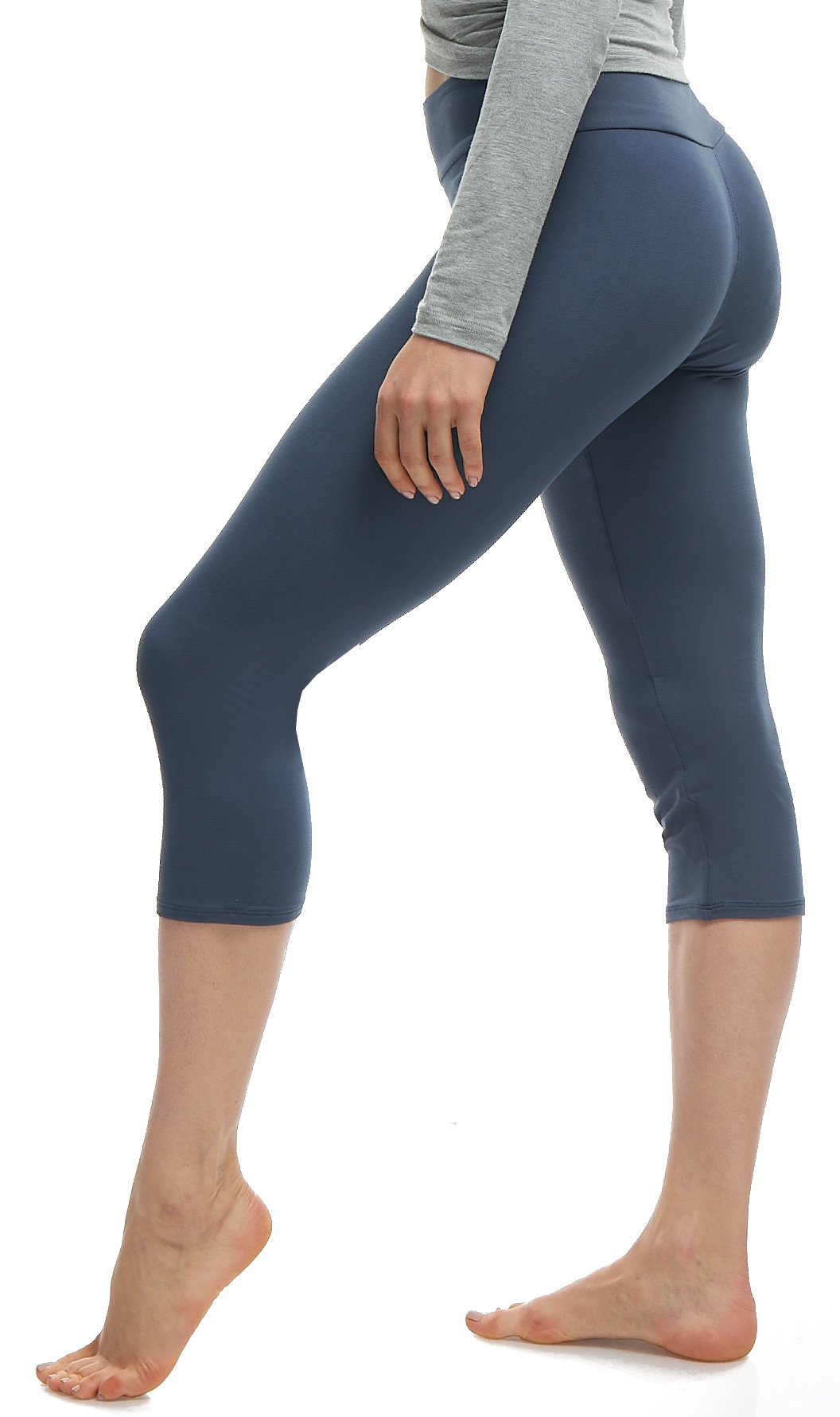 LMB Extra Soft Capri Leggings with High Yoga Wast – Many Colors – XS to 3XL