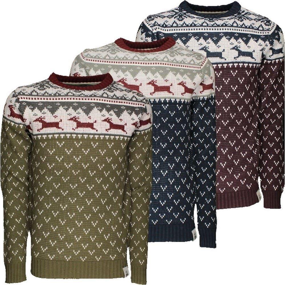 SoulStar Childrens Jumper Boys Deer Festive Knitwear Sweater Christmas Winter