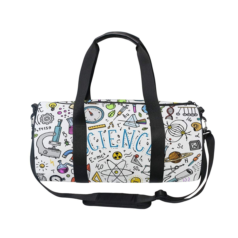 oulianスポーツバッグダマスクスカルフラワーフローラルメンズDuffle Luggage TravelバッグKid軽量ジムバッグ  picture4 B07F1H6LW1