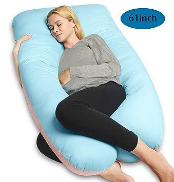 Amazon.com: QUEEN ROSE U almohada de cuerpo de embarazo con ...