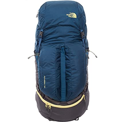 117132e6cc North Face Fovero 70 Hiking Backpack Small Medium Monterey Blue Goldfinch  Yellow