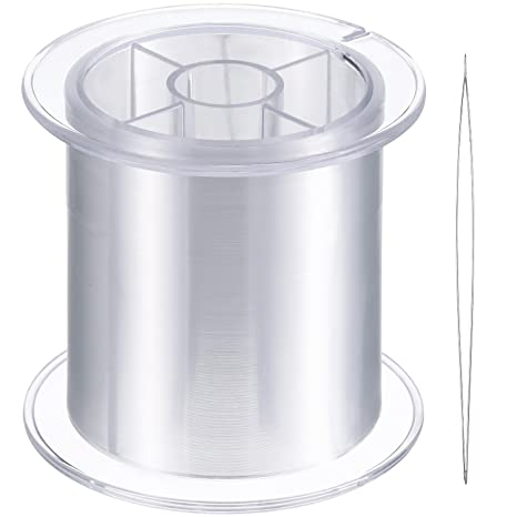 500 m de Hilo Invisible de Nylon Transparente para Colgar Adornos y Costura, Fuerte y