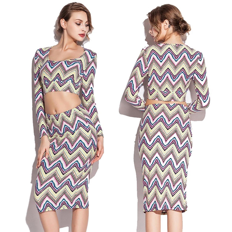 BENNINGCO Fashion Print Stretch Sexy Women Tight dress