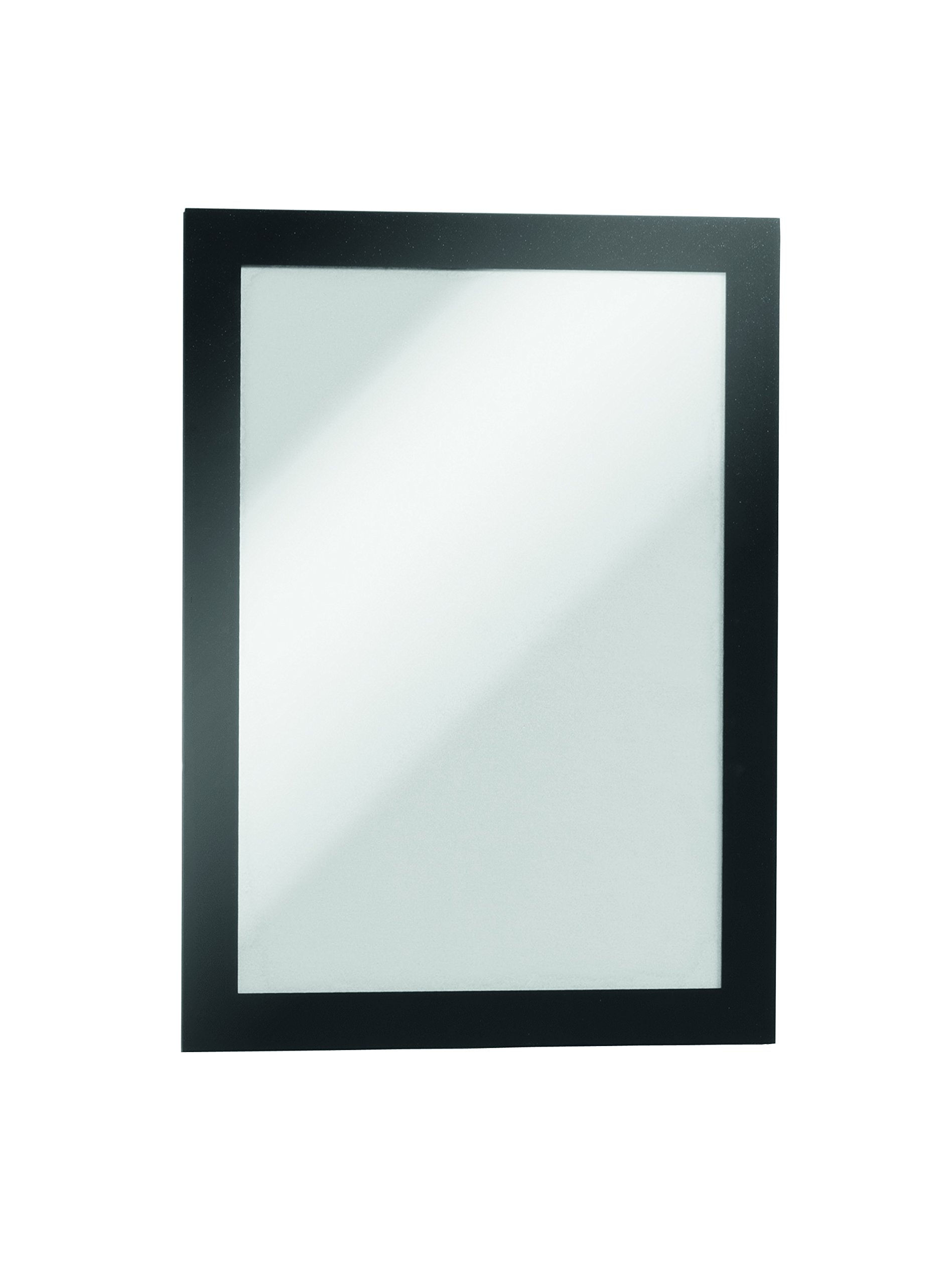 Durable 494701 Info Frame Duraframe Magnetic (A5, Magnetic Frame for Metallic Surfaces) 5 Pieces Black