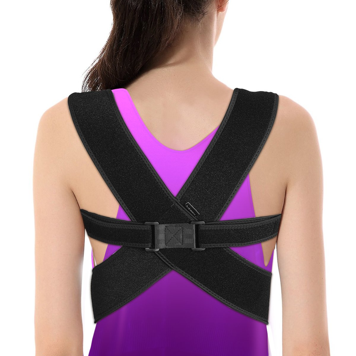 Posture Corrector - Fully Adjustable Breathable Clavicle Chest Back Support Brace which Improves Posture & Back Pain Relief - Perfect for Women & Men