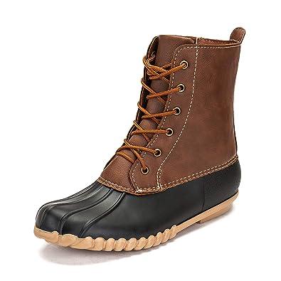 31826bc9800a0 Amazon.com | DKSUKO Women's Duck Boots with Waterproof Zipper | Rain ...