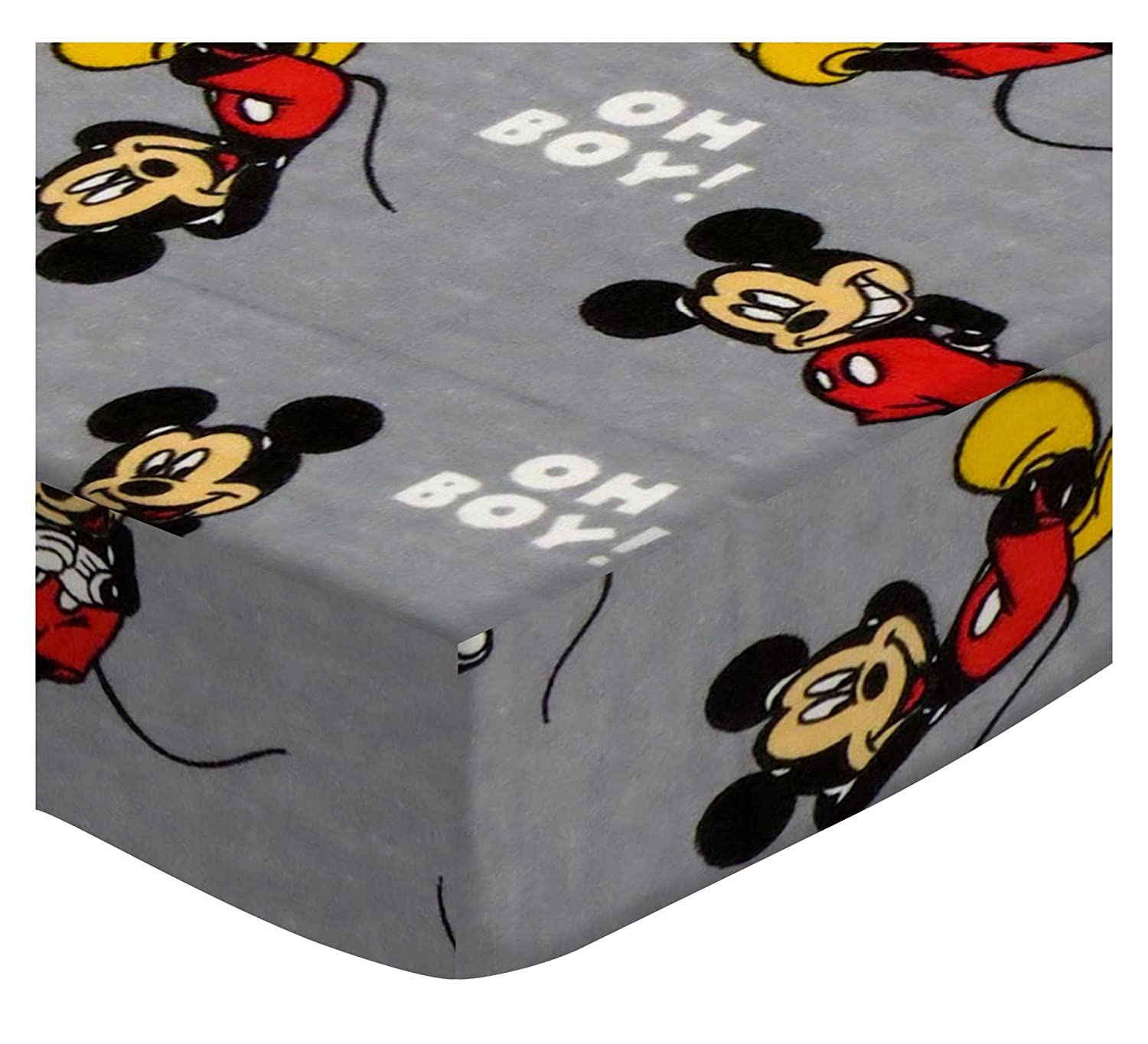 SheetWorld Fitted Portable Mini Crib Sheet - Oh Boy Mickey Mouse - Made in USA PC-F553