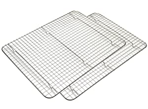 "Foraineam 2-Pack Cooling Rack - 12"" x 16.5"" Baking Rack - Stainless Steel Oven Safe Rack for Baking, Roasting & Drying"