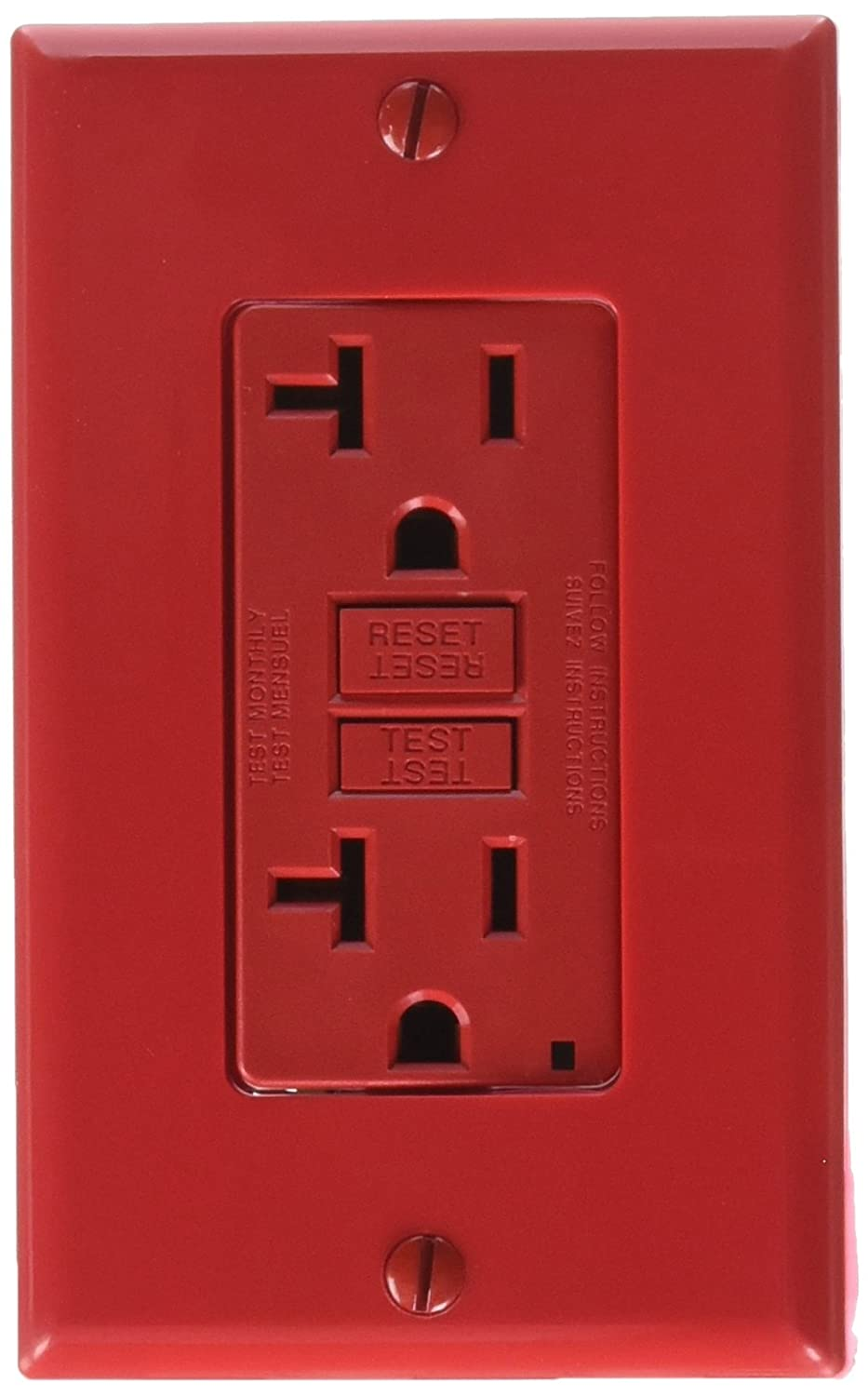 Leviton Gfnt2 R Self Test Smartlockpro Slim Gfci Non Tamper 15 Or 20 Amp Weather Resistant Receptacles Receptacle With Led Indicator Red