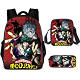 My Hero Academia Kid Backpack Schoolbag Suitable for teens students and unisex 3pcs