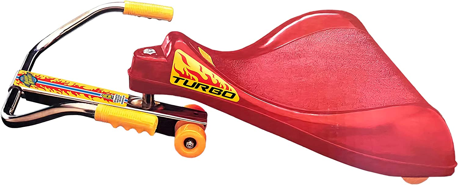 Big Time Toys The Original Roller Racer Flying Turtle Sit Skate, Kid Powered, No Motor, No Pedals, No Batteries, Power by Zig zag Motion, Promotes Active Play in or Outdoors, Non-marring Skate Wheels