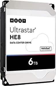 HGST HP Ultrastar He8 | HUH728060ALE604 | 0F23696 | 6TB SATA 6Gb/s 7.2K RPM 128MB Cache 3.5-Inch HDD | 512e | Enterprise Hard Drive (Renewed)