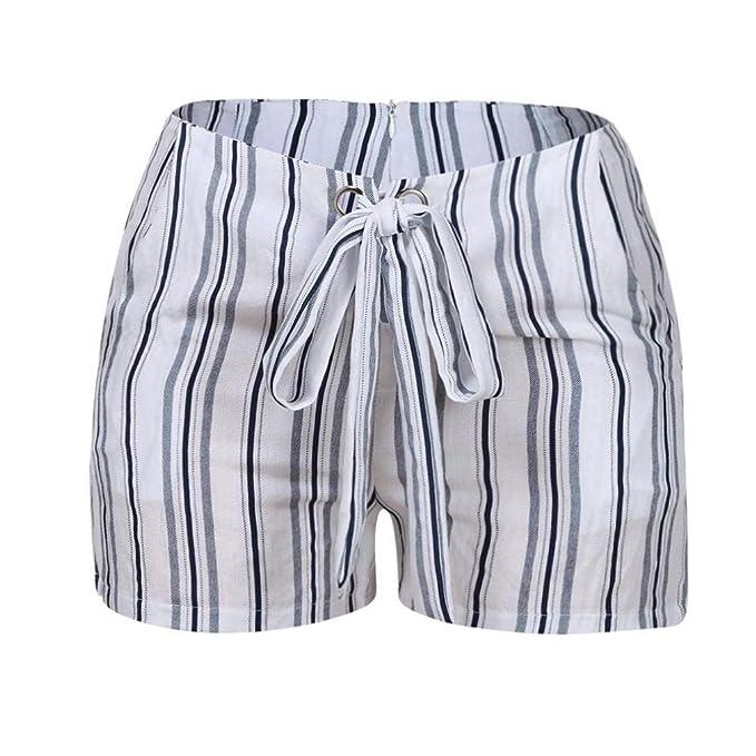 RETUROM-pantalones cortos ♥-♥-♥-Pantalones Cortos para Mujer, Mujer Verano Deporte Pantalón de impresión Casual de Cintura Alta Pantalones de Playa ...