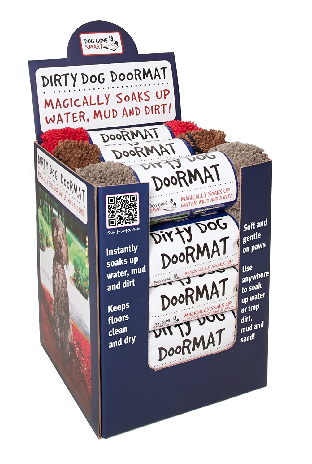 Amazon.com : Dog Gone Smart Dirty Dog Doormat, Large, Brown : Pet Bed Mats  : Pet Supplies