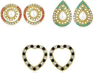 Sukkhi Copper Stud Earrings for Women (Golden) (CB70130GLDPD450)