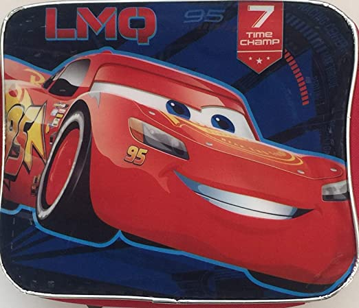 Disney Pixar Cars Rayo McQueen aislamiento lienzo escuela bolsa para el almuerzo: Amazon.es: Hogar