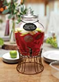 Circleware 69121 Glass Beverage Dispenser with