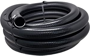 Sealproof Flexible PVC Pipe 1-1/2 Inch Dia Hose 25 FT Length, Black Tubing, Schedule 40, Premium Quality Made in USA