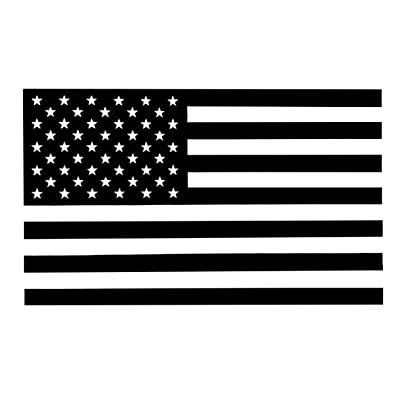 Black and Clear Subdued American Flag Decal (Pack of 4) 2 Forward/2 Inverse (5x3 inches): Arts, Crafts & Sewing