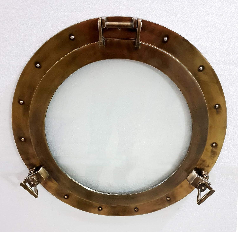 15/'/' Antique Maritime Aluminum Porthole Window Glass Nautical Boat Port Decor