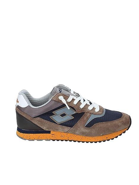herren Herren schuhe LOTTO 45 EU sneakers blau orange leder