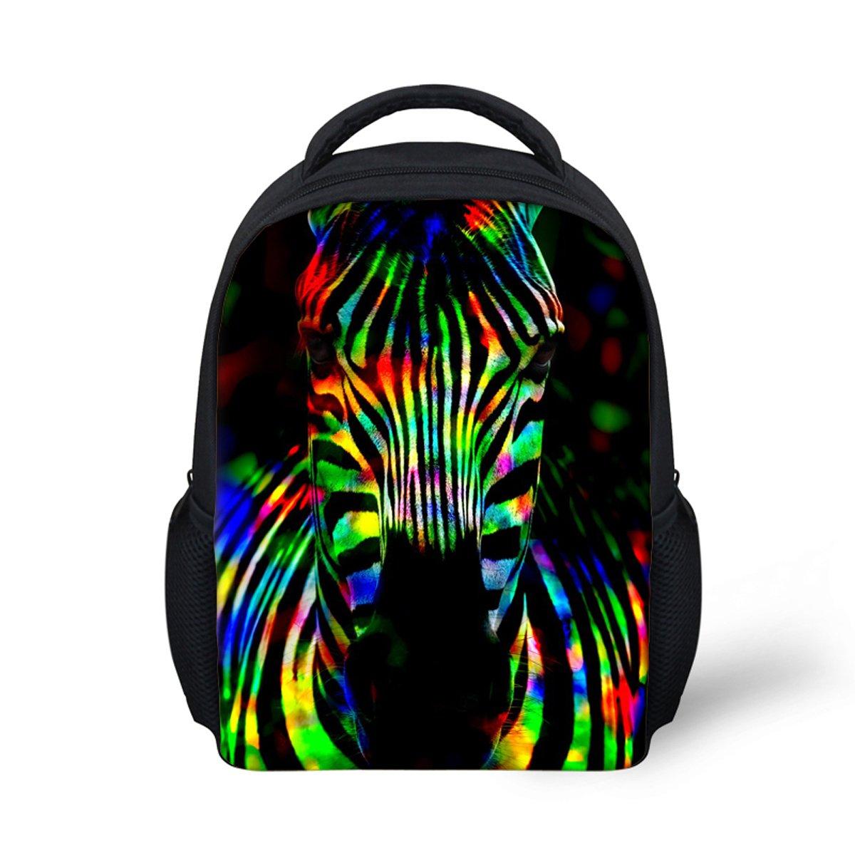 Dellukee 幼児用 ミニバックパック 旅行 通学用バッグ ゼブラプリント   B07DLBDWDT