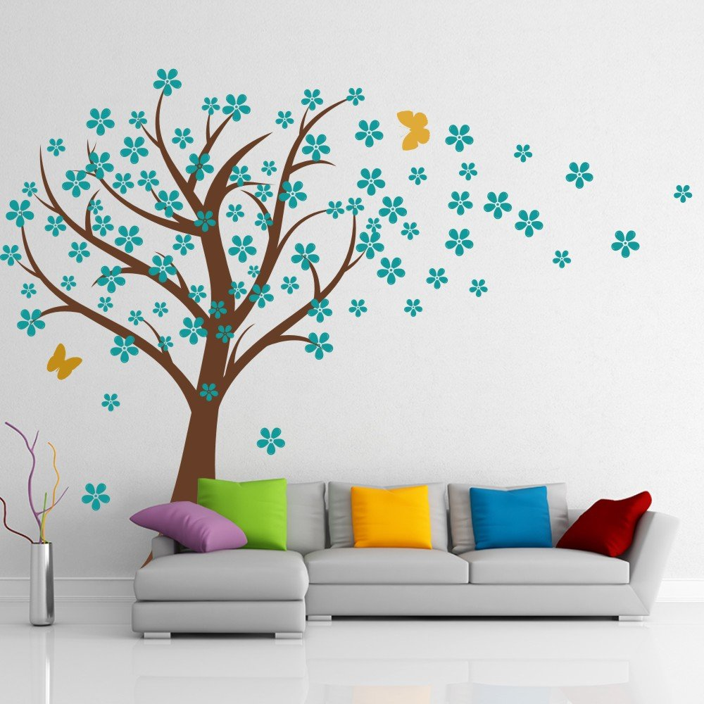 Amazon.com: Cherry Blossom Wall Decals Baby Nursery Tree Decals Kids Flower  Floral Nature Wall Decor Wall Art  Cherry Blossom Tree 1(tree Trunk:Brown  ... Part 86