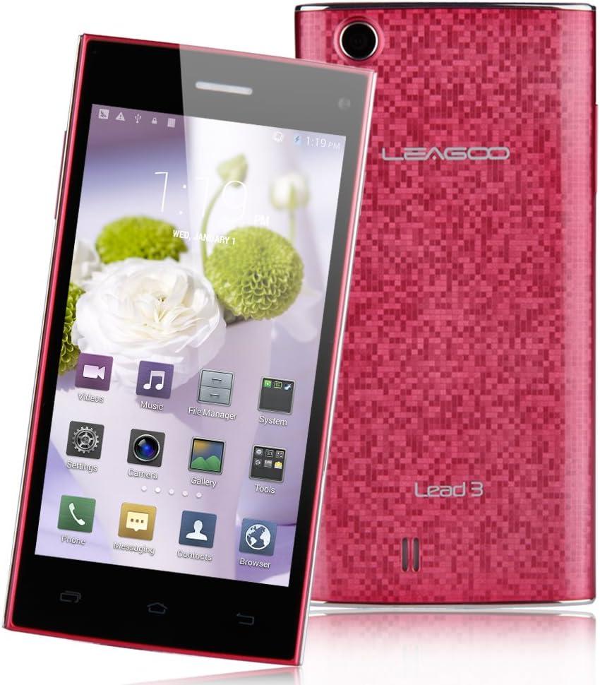LEAGOO Lead 3 MTK6582 Teléfonos Móviles 1.3GHz Quad Core 3G Android 4.4 Smartphone WCDMA Mobile 4.5: Amazon.es: Electrónica