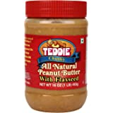 Teddie *MADE IN USA* Natural Peanut Butter with Flaxseed Chunky, 450g
