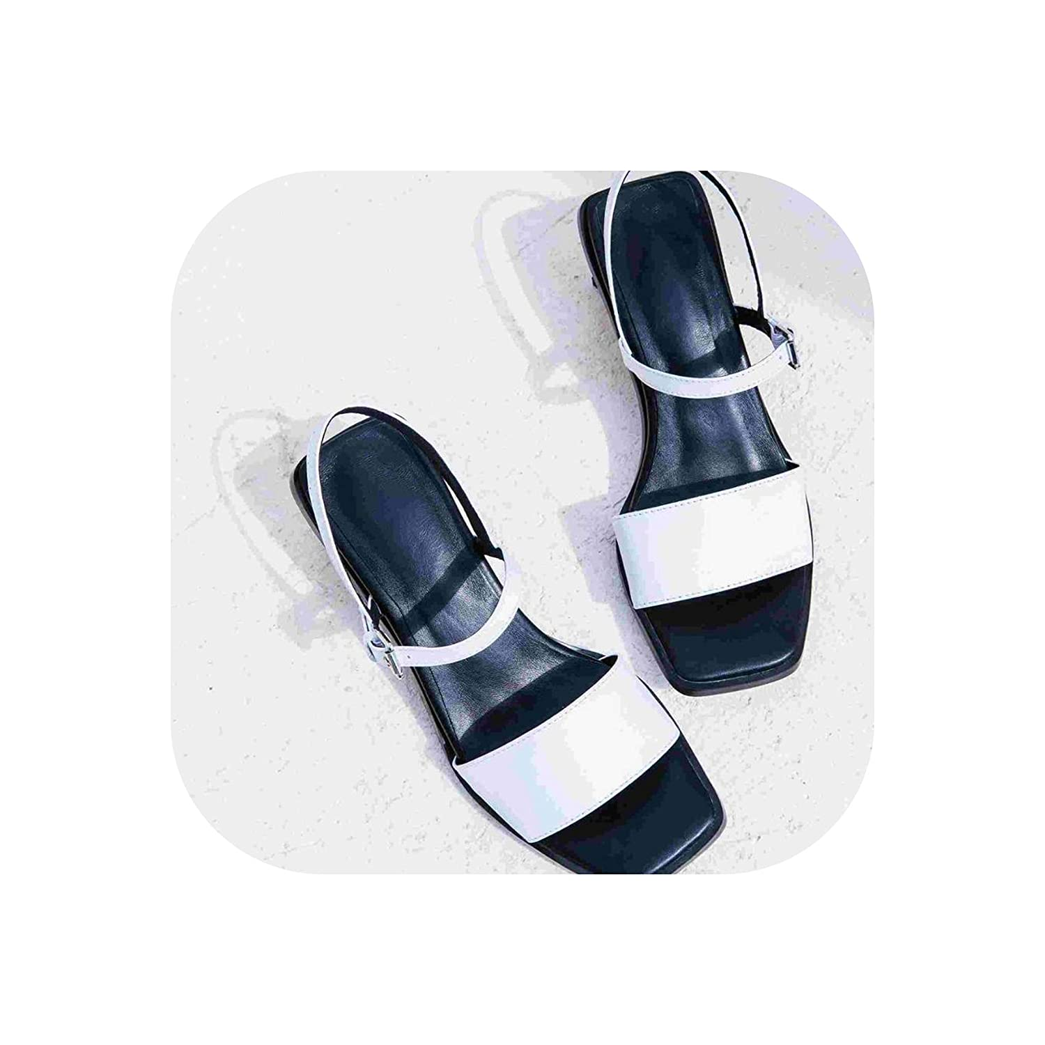 White Peep Toe High Heels Slingback Mixed colors Summer shoes Lady Concise Party Elegant Sandals