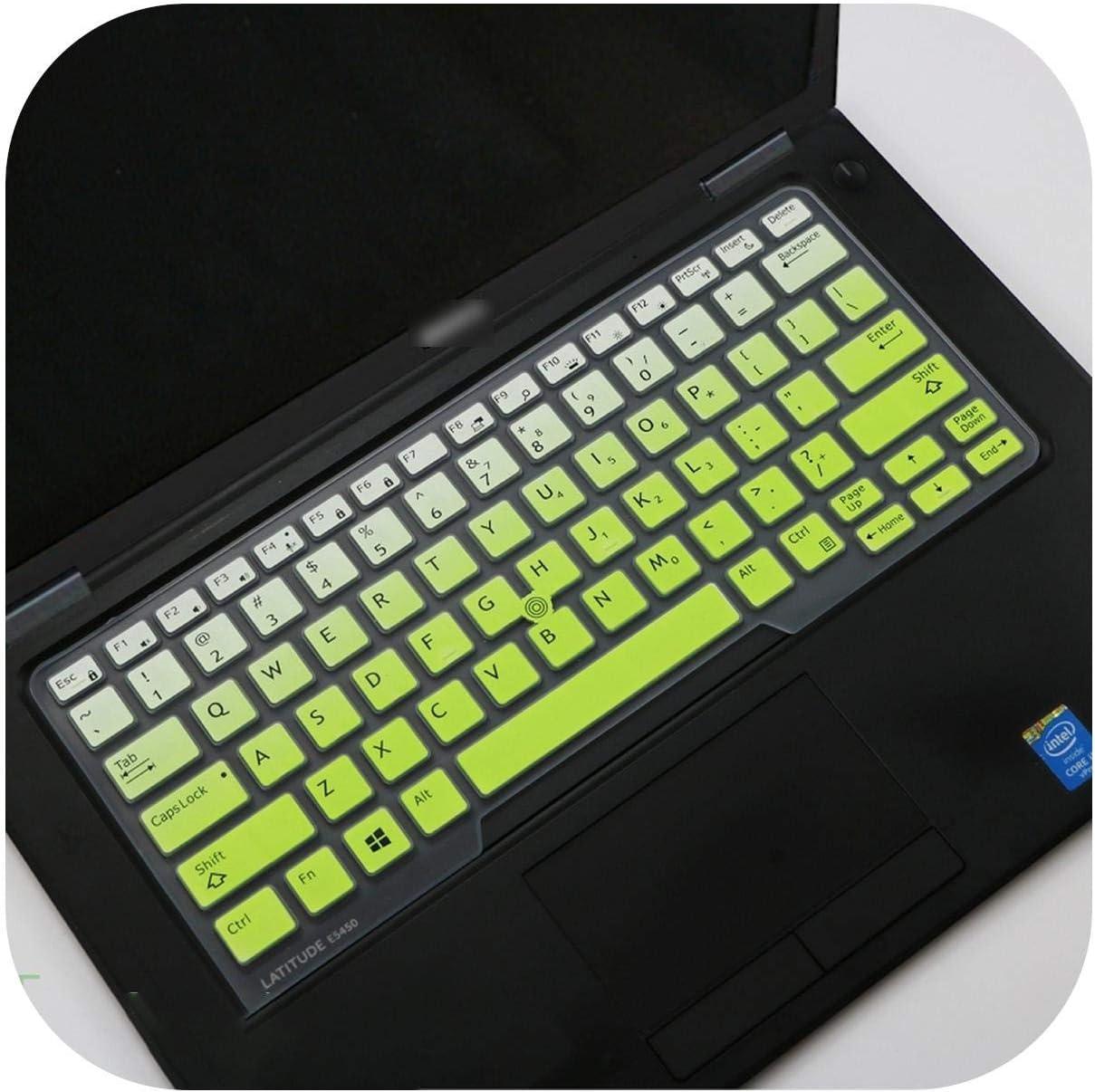 Silicone Laptop Keyboard Cover Skin for Dell Latitude E5250 E 5270 E 7250 E 7270 E5280 E7275 E 7280 E7370 Xps 12 9250 12.5-Fadeblue