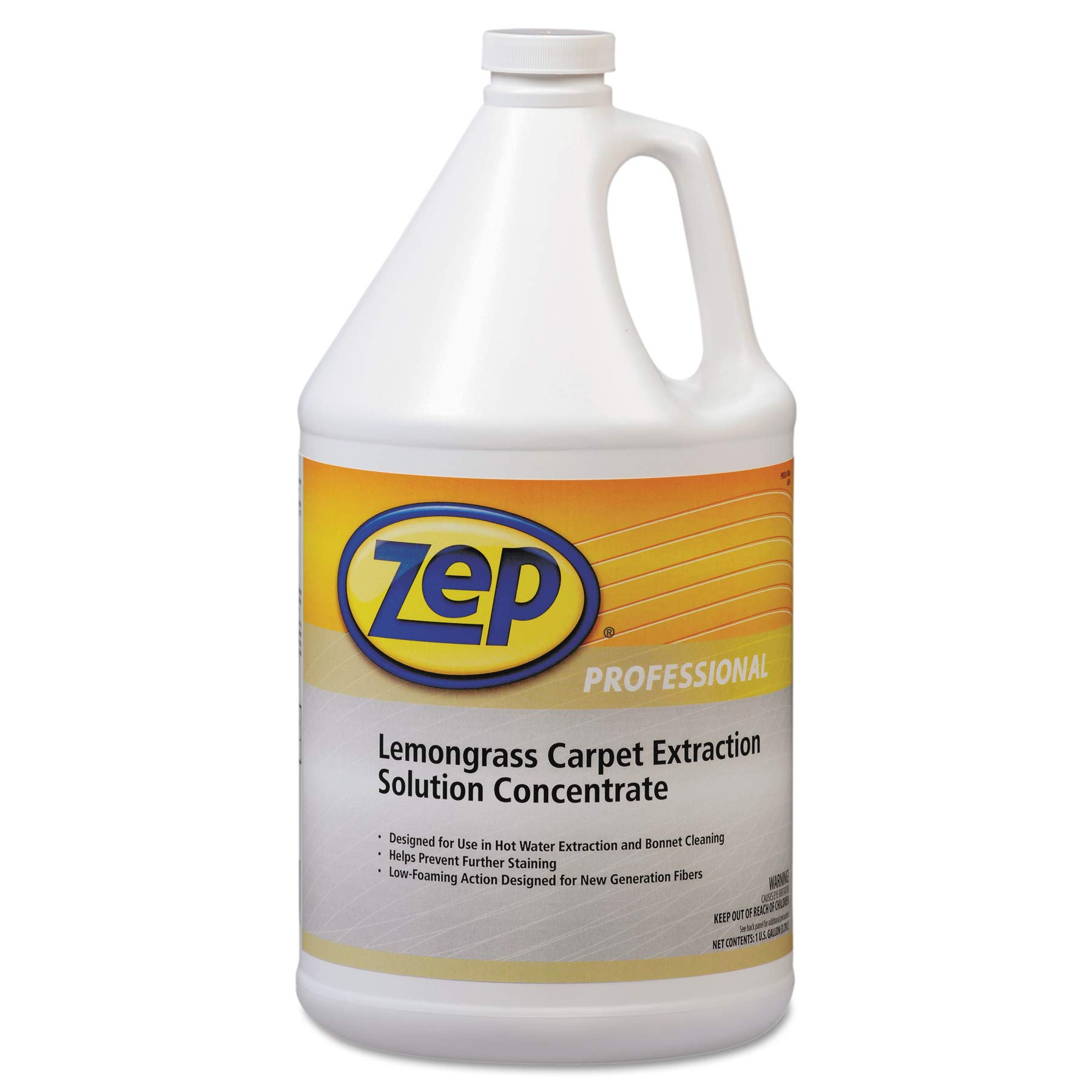 Zep Professional Carpet Extraction Cleaner, Lemongrass, 1gal Bottle (Lemon) by Zep Commercial (Image #1)