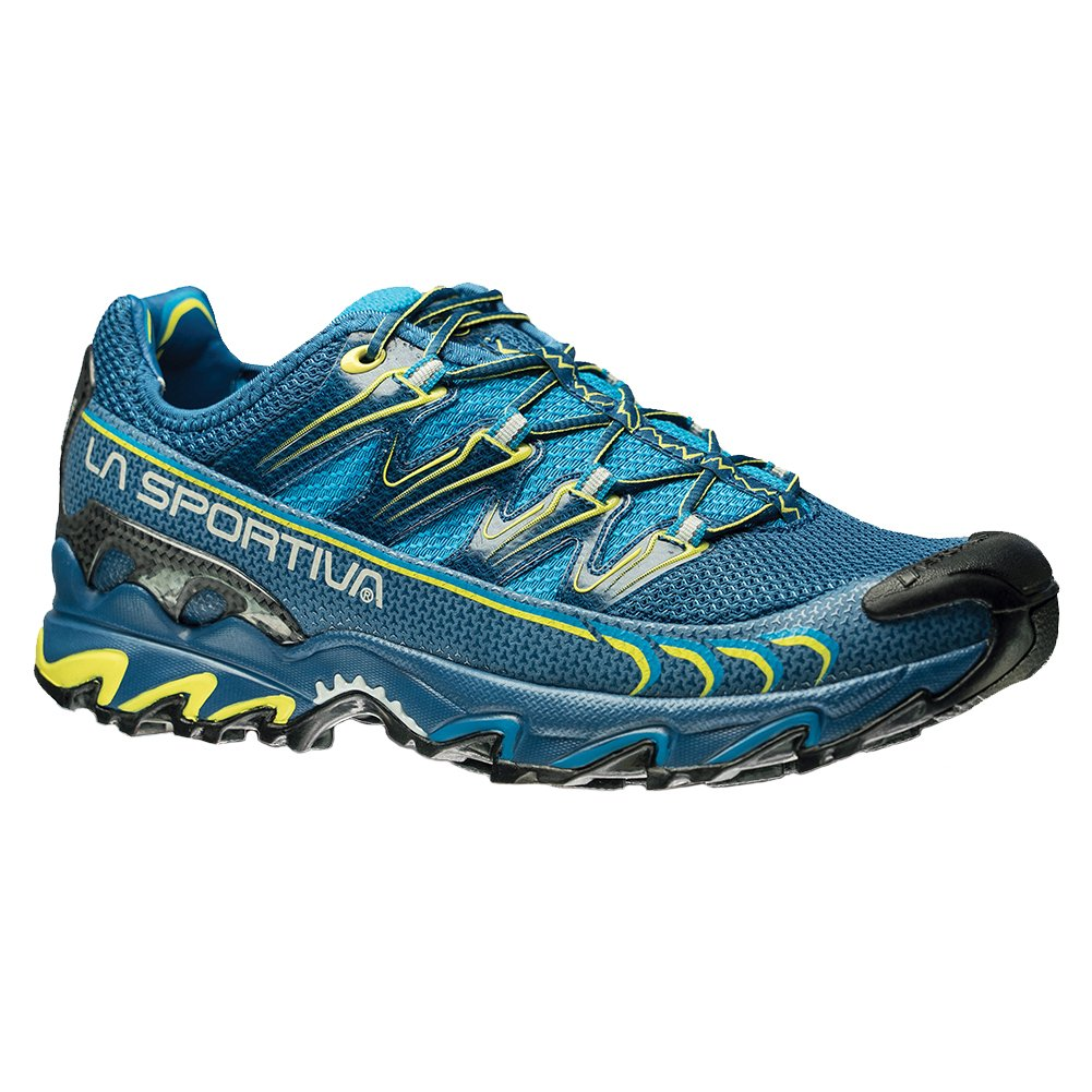 La Sportiva Ultra Raptor Men's Mountain Trail Running Shoe, Blue / Sulphur, 42.5