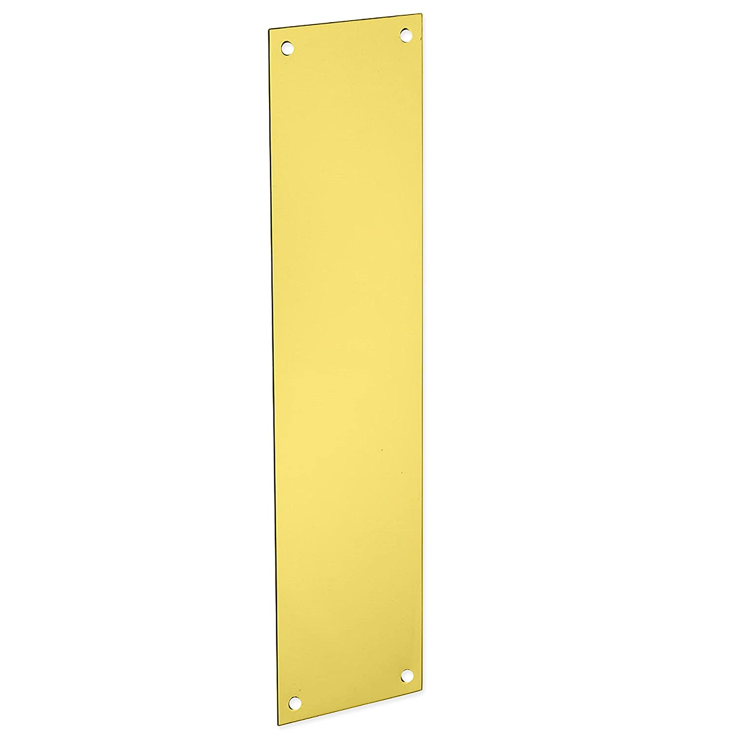 300mm Large Solid Brass Finger Plate - Prevents Fingers From Smudging The Door White Hinge