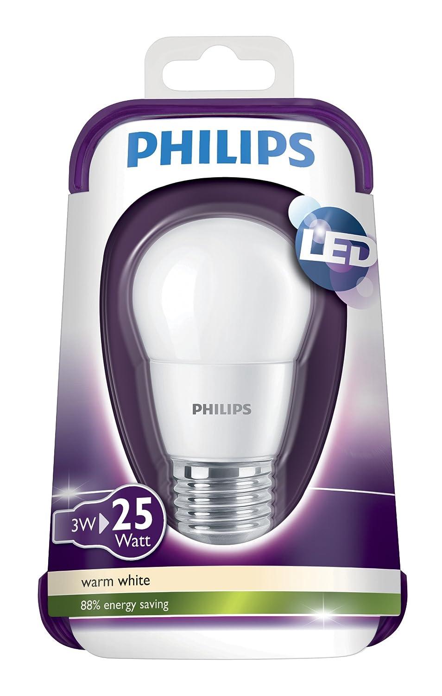 Philips 929001114801 - Bombilla LED esférica mate, 25W, casquillo E27, luz cálida, no regulable: Amazon.es: Iluminación
