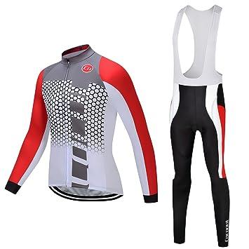 Coconut Ropamo Men s Cycling Clothing Suit Winter Thermal Fleece Bike Jersey  Set + Cycling Pants Bib 84b0eaf56