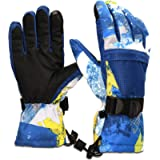 Yobenki Ski Gloves,Winter Waterproof Snow Gloves Non-Slip Breathable Cold Weather Gloves for Mens, Womens, Ladies and…