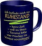 Becher Kaffeetasse im Ruhestand Geschenk Rente Geburtstag