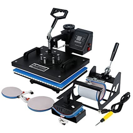 2be71bfc Image Unavailable. Image not available for. Color: TC-Home 5 in 1 Combo  Heat Press Machine Multifunction Sublimation 900w Digital Transfer Printer
