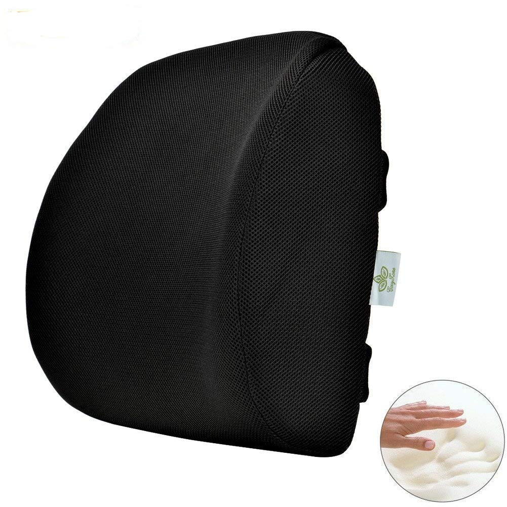 COZYZONE Lumbar Support Pillow with Dual Adjustable Straps, Memory Foam Lower Back Pain Relief Suitable for Home,Office Chair,Car Seat and Airplane