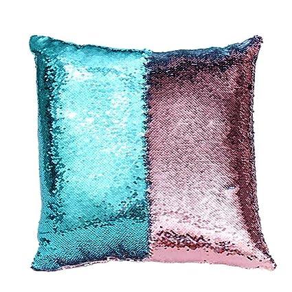 Amazon Pillow Case Ammazona DIY Two Tone Glitter Sequins Throw Adorable Diy Decorative Pillow Covers