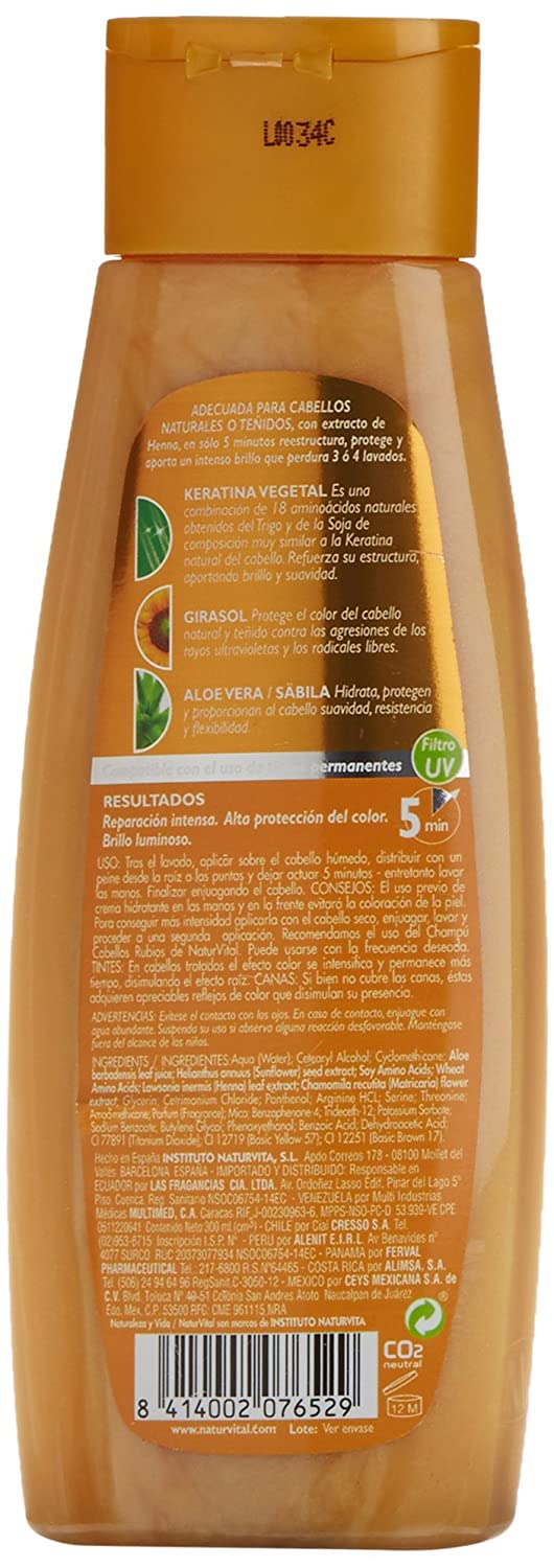 Natur Vital Mascarilla Color Cabellos Rubios - 300 ml: Amazon.es: Belleza