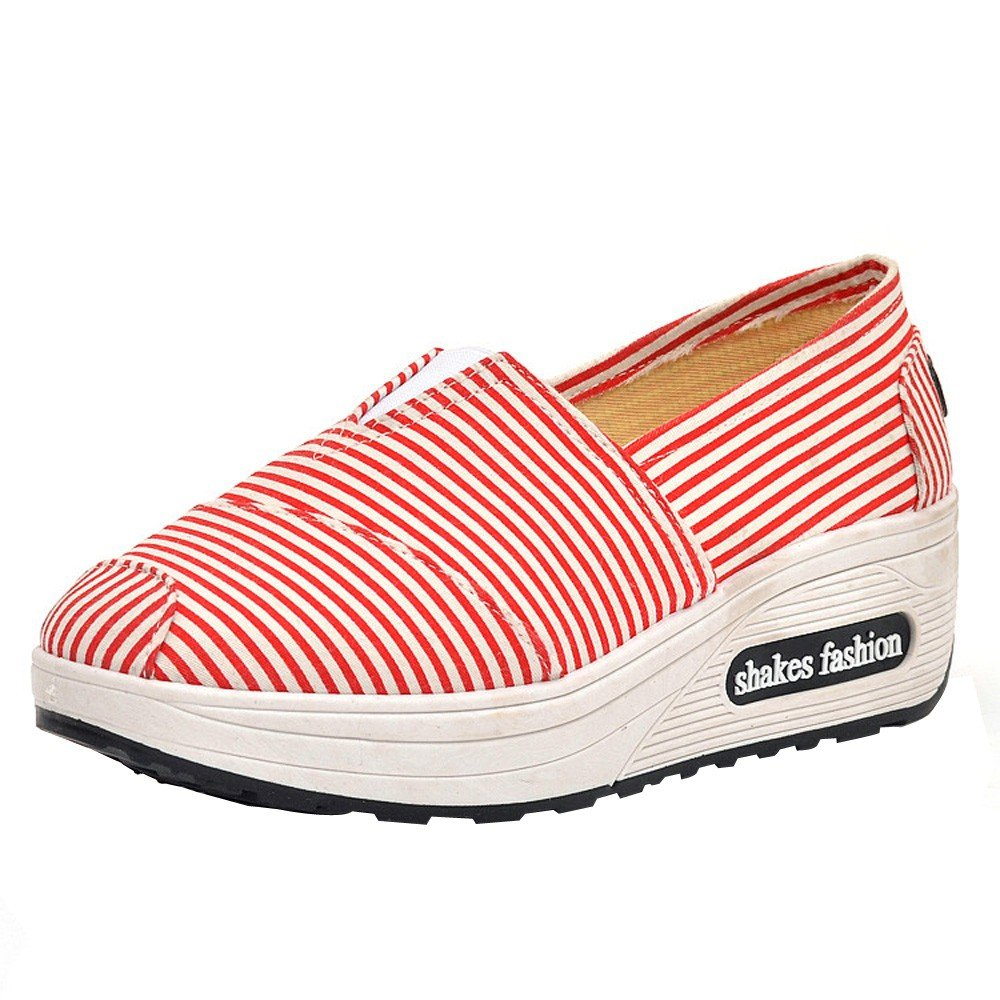 Femmes Femmes Chaussures, Yesmile Chaussures Mode Femmes Tête Ronde Rouge Respirant Loisirs Toile Sport Chaussures Shake Chaussures Rouge 40c7473 - latesttechnology.space