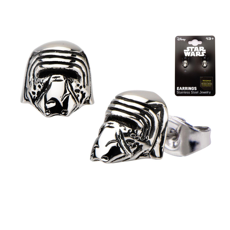Star Wars VII: The Force Awakens Kylo Ren Stainless Steel Stud Earrings