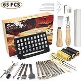 SIMPZIA レザークラフト 刻印セット65点 カービング道具キット アルファベット