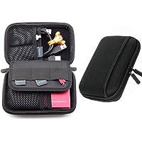 Cheelom Organizador Portátil, Bolsa para Accesorios Electrónicos, para Viajes, Impermeable, Funda Portable para Discos Duros, Cables USB, Auriculares, Móviles, Cargadores, Accesorios Digitales. -Negro