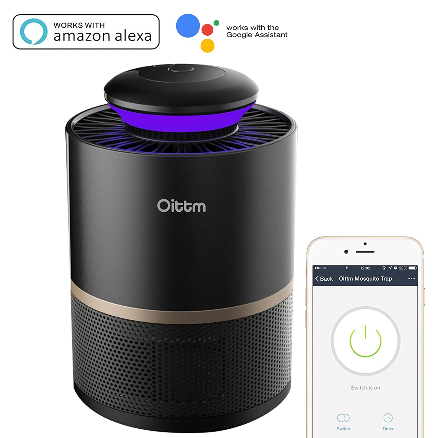 Amazon.com : Oittm Smart Mosquito Killer, Non-toxic Indoor LED ... for Mosquito Killer Device  29jwn