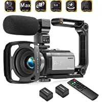 Camcorder Video Vlogging HD Camera HAOHUNT 36MP 1080P Digital Recorder, 16X Digital Zoom 3 Inch Touch Screen Camcorder…
